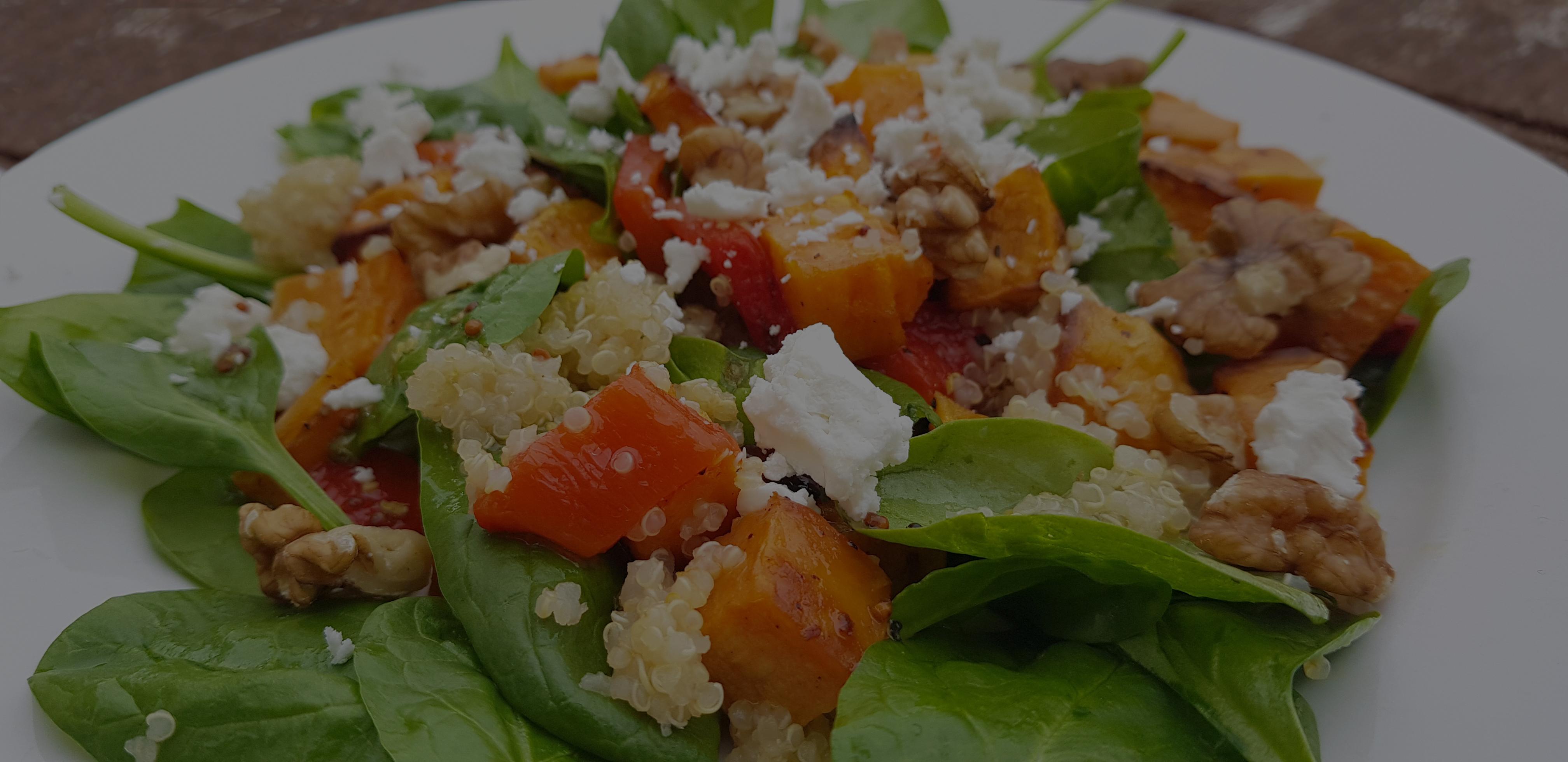 Low-FODMAP sweet potato and quinoa salad