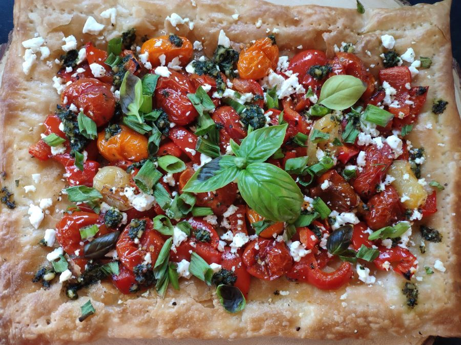 Roasted Veg & Feta Tart
