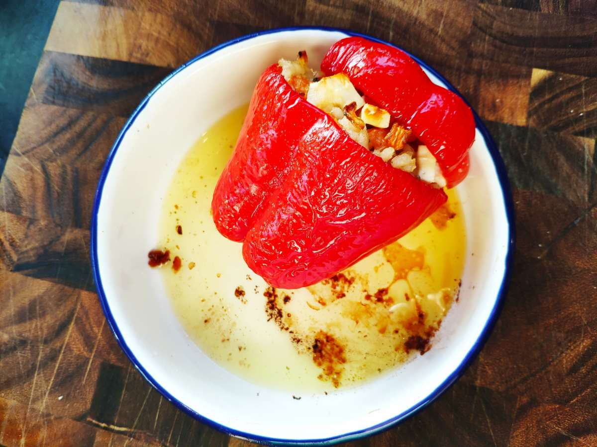 roasted stuffed red pepper