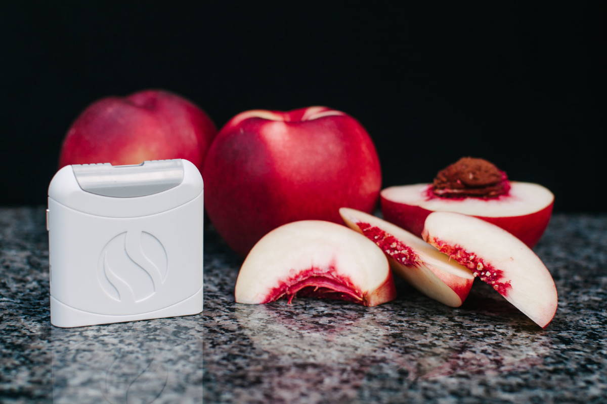 White AIRE device with nectarine
