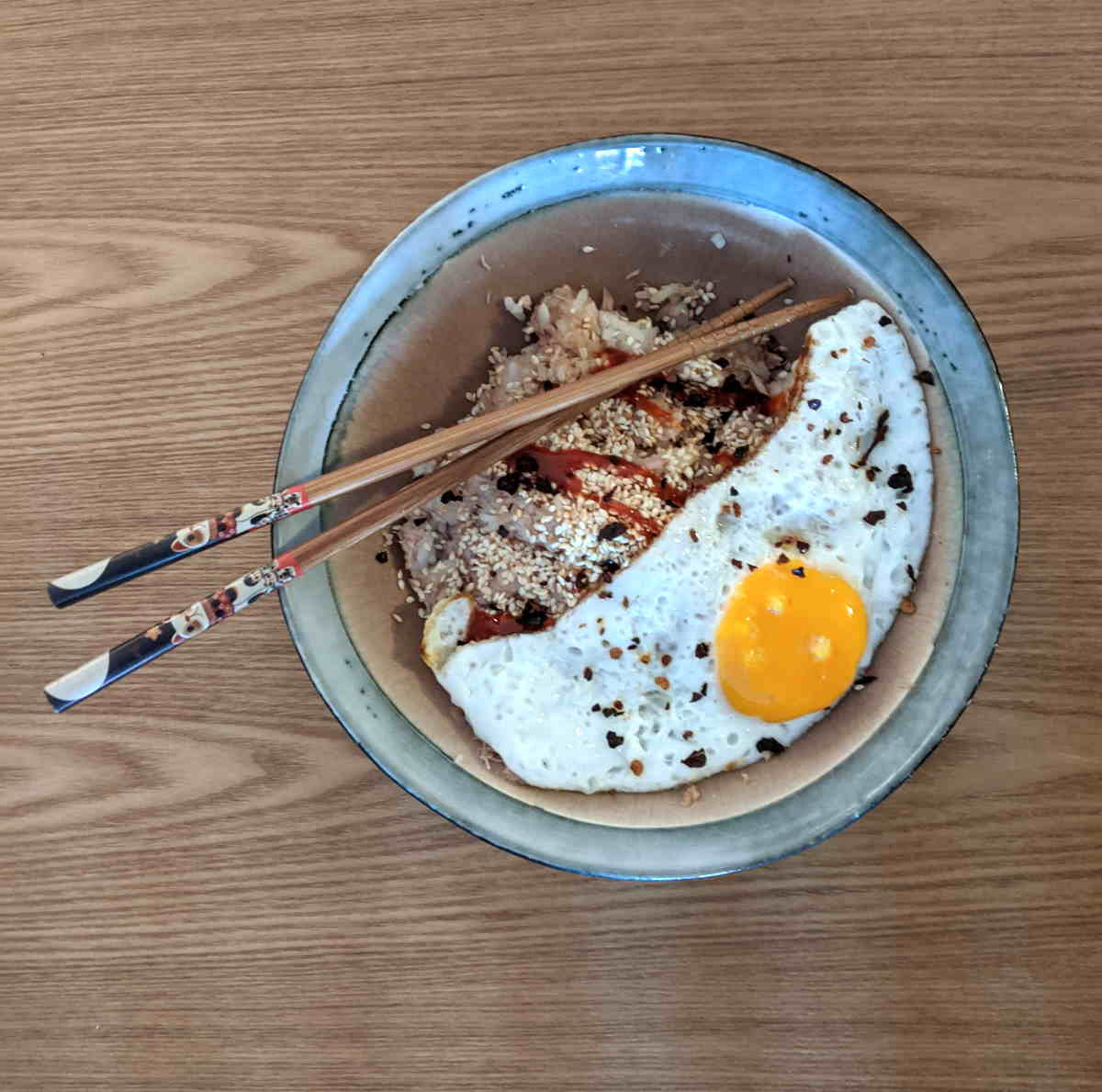 Tuna and Rice bowl with Fried Egg