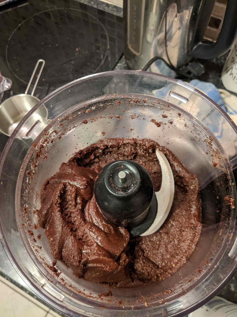 Pecan Nutella completed in blender