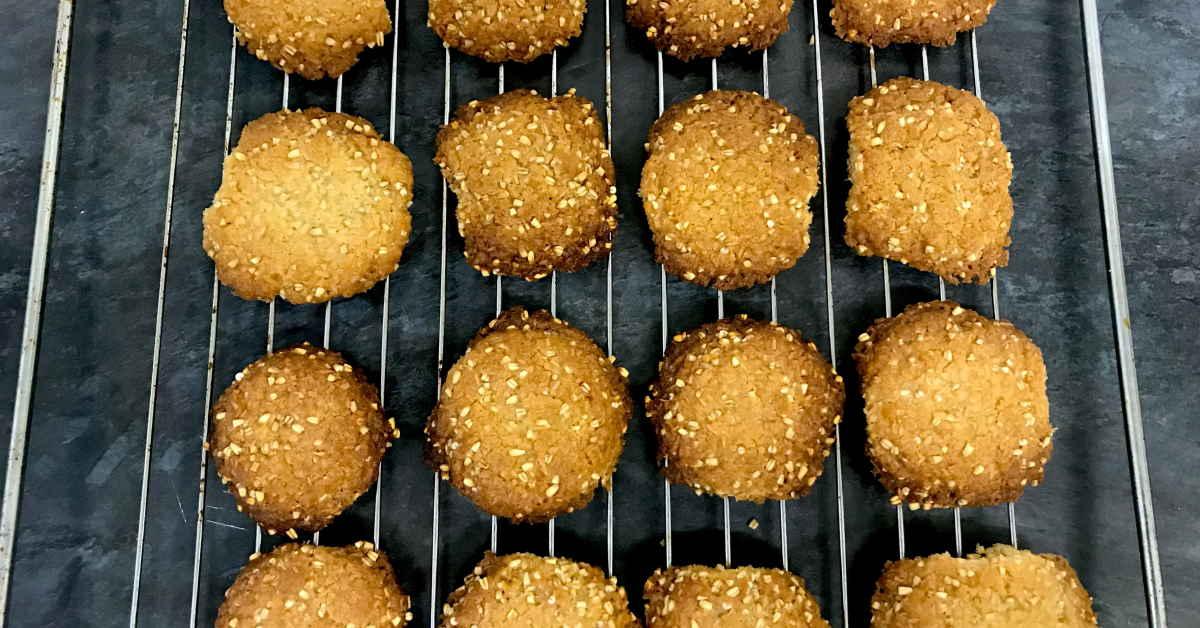 Gluten Free & Low FODMAP Anzac Cookies