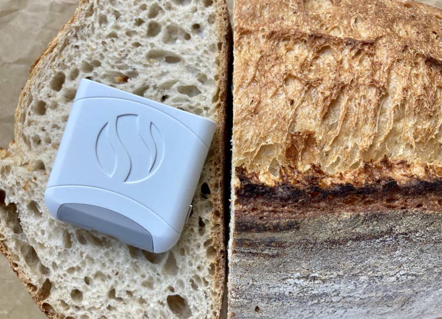 Sourdough bread and white AIRE device
