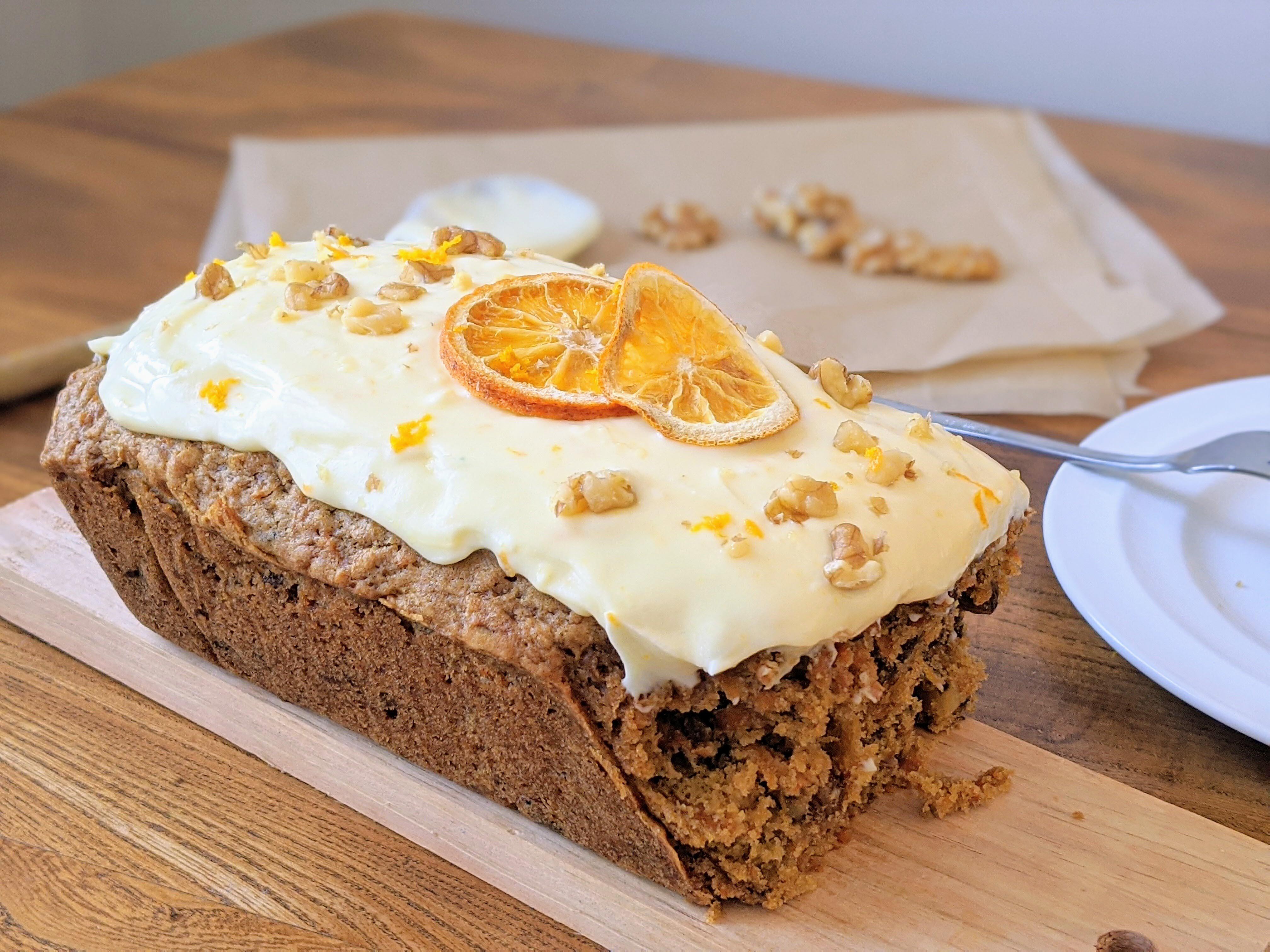 Low FODMAP Carrot Loaf Cake